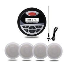 "Herdio 4"" Marine Radio Bluetooth Car Stereo+2 Way ATV/UTV Speakers+FM/AM Antenna"