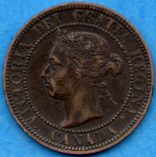 Canada 1893 1 Cent One Large Cent Coin - VF/EF