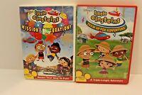 Lot of 2 Little Einsteins DVDs Movie Adventure Mission Celebration 140 minutes