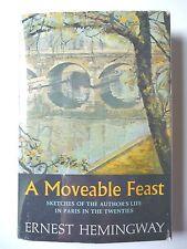 A MOVEABLE FEAST by ERNEST HEMINGWAY 1964 1ST EDITION BCE HC w/ JACKET PARIS VG+