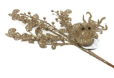 Glitter Bird on Branch Christmas Ornament Decoration Home Decor Flower Gift