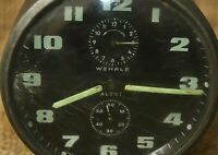 Retro Alarm Clock Wehrle Alert, Good Working & Interesting, Made In Germany #135
