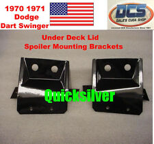 1970 Dodge Dart Swinger Under Deck Lid Spoiler Mounting Brackets 3506472 3506473