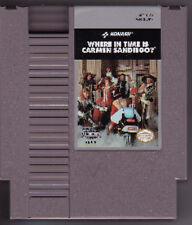 WHERE IN TIME IS CARMEN SANDIEGO ORIGINAL SYSTEM NINTENDO GAME NES HQ