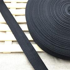 Free shipping 5Yards Length 1 Inch (25mm)Strap Nylon Webbing Strapping Black