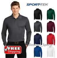 Sport-Tek Long Sleeve Polo Golf Performance Sport Wicking Dry Fit Shirt ST657