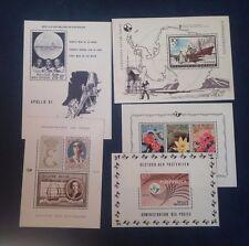 M346. BELGIQUE. 5 Feuillets ou blocs timbres neufs sans trace de charnière