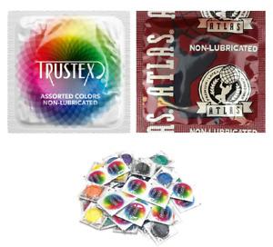 Trustex & Atlas Non-Lubricated Condoms - Choose Quantity