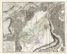 Antique Map-FRANCE-BATTLE ENTZHEIM 1674-Beaurain-1782