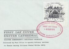GB : 1971 EXETER Cathedral 20p -First day of issue