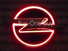 5D Reflective LED LOGO Emblem Rear Badge Decal Sticker Lights For Opel Red DC12V
