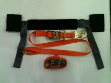 2X Motorcycle Tie down straps Ratchets & handle bar strap bra Trailer recovery