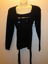 Womens Willow Bay Black Small Lace ruffles cardigan sparkle  S retail: $53.99