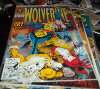 WOLVERINE #51 MARVEL 1992   MySTIQUE + xmen   old man logan KUBERT COVER