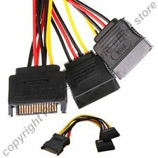 """Lot10 6""""inch 15pin SATA Power Y/T/Splitter 1Male~2Female Adapter Cable/Cord/Wire"""