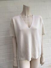 IRIS & INK Pure Wool White Knitted Top Sweater Jumper Medium M