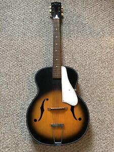 Rare Vintage Kingston f Hole Sunburst Archtop Acoustic Guitar *NO Case Included*
