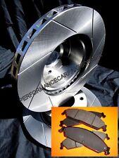 SLOTTED VMAX STYPE & BRAKE PADS Commodore VN VP VR VS Rear Disc Brake Rotors