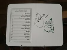 SEVE BALLESTEROS PGA GOLF SIGNED AUGUSTA MASTERS SCORE CARD REAL AUTOGRAPH