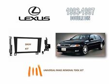 NEW Fits 1993-1997 LEXUS GS SERIES Car Stereo Double DIN Dash Kit, Tool Set