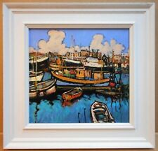 Padstow Harbour, Cornwall. Original Oil by listed artist Ken Moroney circa 2000