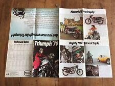 catalogue brochure ancien moto numéro 8 triumph 70
