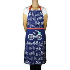 MÃœkitchen Designer Print Chef Apron - Bicycles - Cotton - New with Tags