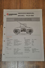 Samsung RCD-990 Compact Disc Radio Cassette recorder Vintage Service Manual