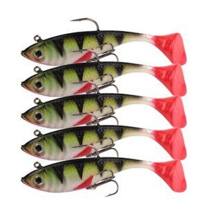 5pcs Soft Fishing Lure Bait Lead Fish Swimbaits Silicone Soft Bait