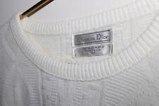 Men's Sz L~100% Acrylic~Solid White~Southwestern/Navajo Pattern~Crewneck Sweater