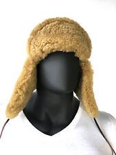 Lavado Russian Military Style Aviator Trapper Genuine Shearling Sheepskin Hat 3X