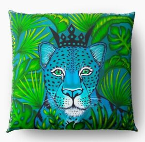 Pillows Decorative For Sofa Lining Printed Front Retro Leopard With Hinge