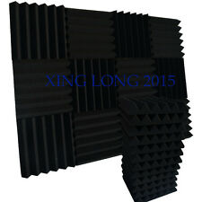 "12 Pack Acoustic Wedge Studio Foam Sound Absorption Wall Panels 2"" x 12"" x 12"""
