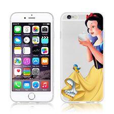 Para los modelos de dibujos animados lindo Personalizado Princesa iPhone Gel TPU Silicona Funda Cubierta Anime