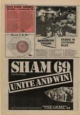 Sham 69 Unite And Win Advert NME Cutting 1980