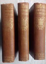 SIR THOMAS URQUHART.RABELAIS.5 VOL IN 3 SET 1900.GARGANTUA.PANTAGRUEL.LE MOTTEUX