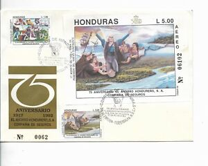HONDURAS 1992 DISCOVERY OF AMERICA COLUMBUS SAVING COMPANY FIRST DAY COVER