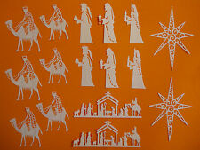 "Die-Siree & Tattered Lace Die Cut Embellishments ""Nativity"" (16pce)"