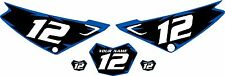 Yamaha XTZ 125 Custom Pre-Printed Black Backgrounds with Blue Shock Series