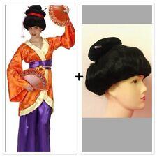 Japanese Kimono Dress and Wig Geisha Costume Oriental Japan Asian Chinese Women