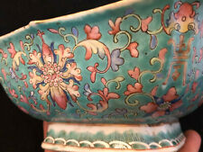 Coupe Chinoise Porcelaine Emaillée Antique Chinese Porcelain China