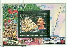 NAVIGATEURS CELEBRES - MARINERS CENTRAL AFRICAN REPUBLIC 1981 golden block