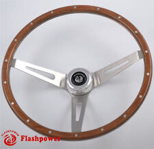 Volant Classic 15'' Laminated Riveted Mahogany Wood Ford Mustang 3 écrous