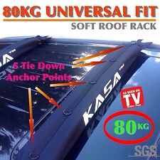 DOUBLE SOFT ROOF RACKS CAR ROOF LUGGAGE KAYAK SURFBOARD FISHING SKIS SUP CANOE!!
