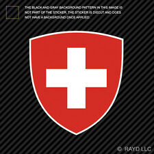 Swiss Coat of Arms Sticker Decal Self Adhesive Vinyl Switzerland flag CHE CH