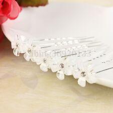 20Pcs Diamante Flower Crystal Hair Pins Clips Bridal Wedding Party Bridesmaid