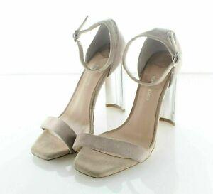 NEW $144 Women's Sz 6.5 M Tony Bianco Samala Suede Ankle Strap Heel Sandal Nude