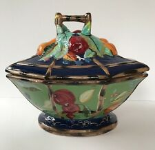 Gorgeous Tracy Porter Viridian Large Covered Bowl With Fruit Scrolls Bamboo Edge