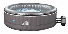 INFLATABLE ROUND 6 PERSON HOT TUB SPA JACUZZI NETSPA MALIBU 6 & TREATMENT KIT