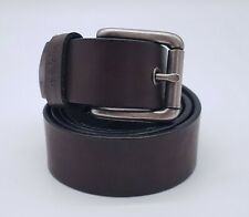 WRANGLER Men's Dark Brown Leather Belt 36